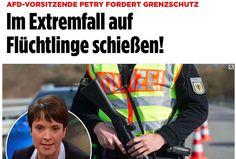 """""""Schießbefehl auf Flüchtlinge"""": Die Schmutzkampagne gegen Frauke Petry und die AfD - http://www.statusquo-news.de/schiessbefehl-auf-fluechtlinge-die-schmutzkampagne-gegen-frauke-petry-und-die-afd/"""