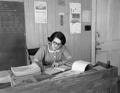 the 1950s- 1952 primary school teacher by april-mo, via Flickr