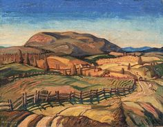 """Quebec Uplands,"" Arthur Lismer, 1926, oil on canvas, 32.25 x 40.3"", National Gallery of Canada."