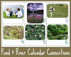Calendar Connections ~ Pond and River Life {free} from @1plus1plus1