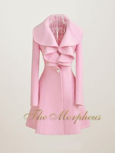 Pink ruffle collar wool coat from Morpheus Boutique. Where is this Boutique...need to have this...