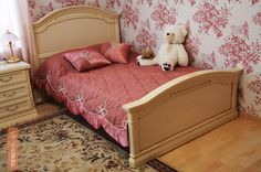 Embellish your princess's room with some royal silky cushions styled with embroidery work and team it with a floral wallpaper for an inviting and sophisticated space. But make that you do not add too much pink, for a decluttered and easy appearance.