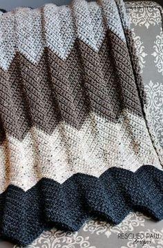 Chevron Crochet Blanket Pattern :: Rescued Paw Designs