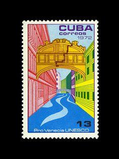 Cuba stamp - Cuba? The Bridge of Sighs??? Hummmm...OK.
