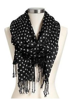 polka dot scarf black