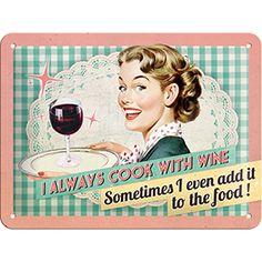 ALTINCI CADDE - KAMPANYA - Cook With Wine Pin Up Duvar Panosu