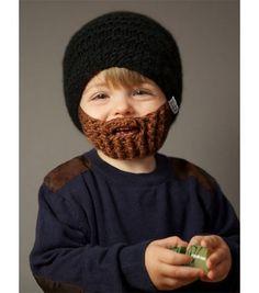 Bonnet barbe marron / Modèle enfant
