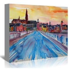 Marcus//Martina Bleichner Starry Night Over Amsterdam Canal Removable Wall Art Mural 12X18