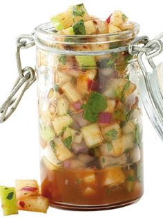 Easy Green Apple-chipotle Salsa..Green apples add tartness and a fresh crunch to this salsa. Serve it alongside pork, fish or chicken