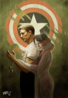 Captain America and Peggy Carter (Captain America: The First Avenger)