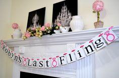 Last Fling Banner, Bridal Shower banner decoration, bachelorette party decor, diamond ring banner decor, wedding decoration, wedding garland
