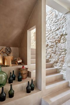 Image 21 of 29 from gallery of Grande House / Lado Blanco Arquitecturas. Photograph by Carla Capdevila Haus Am Hang, Casa Patio, Dream Mansion, House Inside, Mediterranean Homes, Stone Houses, Home Decor Inspiration, Interior Architecture, Modern Design