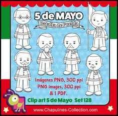 60 Off 5 De Mayo Clipart Black White And Coloring Pages Mexican History Batalla Puebla Battle Of Ignacio Zaragoza Set 128