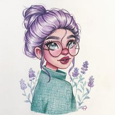 Finally my event! I hope you like my Lavender girl 💜 Rules: Use and tag me so I can see it Draw her… Girl Drawing Sketches, Cartoon Girl Drawing, Cool Art Drawings, Girl Cartoon, Pencil Art Drawings, Art Style Challenge, Cartoon Kunst, Arte Sketchbook, Digital Art Girl