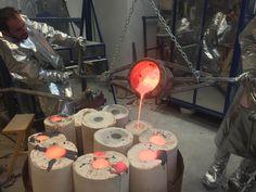 Michal Jackowski, At Work #sculptures #artist #workshop #rzezba #humans #antique #work #fire