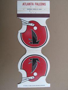 Atlanta Falcons 1979 Football Schedule Vintage Die-Cut Sports Matchbook Cover