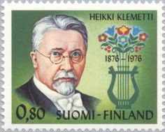 ◇Finland 1976 Klemetti, Heikki Valentin Composer and Author Postage Stamps, Author, Day, Personality, Europe, Portraits, Collections, Celebrities, Paper