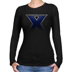 NCAA Xavier Musketeers Ladies Blackout Long Sleeve Slim Fit T-Shirt - Black - http://www.cincyshop.net/cincinnati-sports/xavier-university/ncaa-xavier-musketeers-ladies-blackout-long-sleeve-slim-fit-t-shirt-black/
