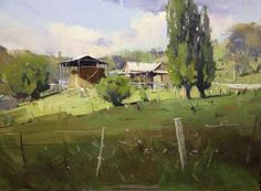 Colley Whisson     Springtime in Guildford, Aust. Oil