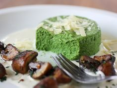 I don't/won't use cream, but this is an intriguing idea - a mouse made from greens.