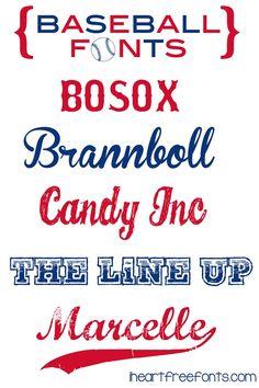 Free Baseball Fonts (Cool Fonts Layout)