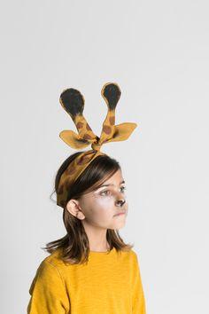 Giraffe twisty headwrap ears.