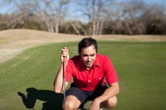 Golf Shirts for Men - The Players Shirt in Red