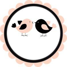 Logotipo grátis tema passarinhos - Cantinho do blog