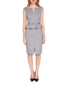 TED BAKER Detail Peplum Dress. #tedbaker #cloth #dress