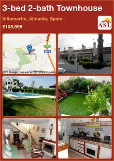 3-bed 2-bath Townhouse in Villamartin, Alicante, Spain ►€108,995 #PropertyForSaleInSpain