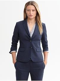 Navy lightweight wool blazer