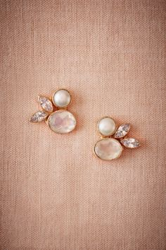 BHLDN Ice Palace Earrings in  Bride Beach & Honeymoon at BHLDN