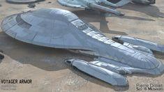 Pierre Drolet Sci-Fi Museum - StarShip Star Trek Voyager, Star Trek Enterprise, Starfleet Ships, Abandoned Ships, Star Trek Beyond, Star Trek Starships, Star Trek Ships, Star Trek Universe, Movie Props