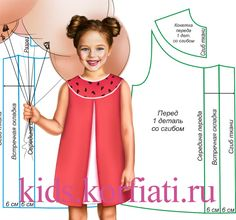 Это милое платье с кокеткой для девочки можно сшить самостоятельно буквально за пару часов. Чтобы платье эффектно смотрелось - выбирайте для него три ткани.