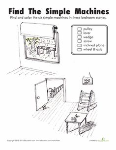 Worksheets: Find the Simple Machines