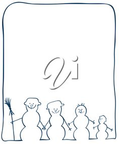 iCLIPART - Clip Art Illustration of a Family of Snowmen