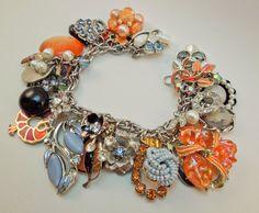 Lady Phoenix Repurposed Vintage Jewelry Charm by Modulation, $70.00