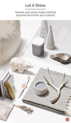 Lovers of modern, minimal style will be thrilled with gifts like these. Choose from soft textures like a faux-fur ottoman, diamond-patterned throw or a buttery leather pouch. Or go for cool geometric accents, like a polar bear figurine, Nate Berkus wing nesting bowls or metallic-detailed trees. Natural elements can also play in the mix, like a silver faux antler or geode bookends. So gift away, because these picks from our Holiday Alpine Collection will easily blend into many styles of…