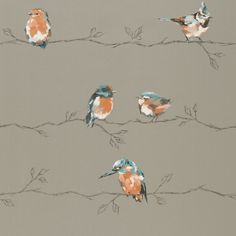 Persico Tangerine / Duck Egg wallpaper by Harlequin