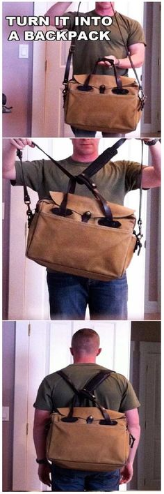 DIY Convert Shoulder Bag into Backpack. Why didn't I ever think of this when studying???