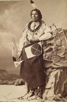 Ponca Chief, Hairy Bear portrait by C.M. Bell in his Washington Studio (c. 1872).