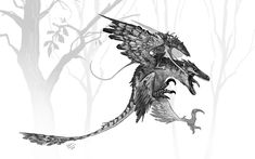 T rex skeleton warrior, an art print by Shaun Keenan - INPRNT Dinosaur Sketch, Dinosaur Drawing, Dinosaur Art, Alien Concept Art, Creature Concept Art, Creature Design, Fantasy Beasts, Fantasy Art, Raptor Dinosaur