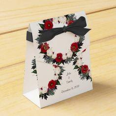 "Wreath ""Fleur"" Flowers Floral Favor Boxes - craft supplies diy custom design supply special"