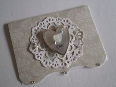 Handmade Valentines Card Embossed 3D Happy Valentines by zuCards
