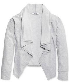 DKNY Little Girls' Shawl-Collar Cardigan