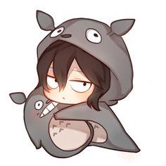 Boku no Hero Academia x Tonari no Totoro - Aizawa Shouta Jin Chibi, Naruto Chibi, Chibi Manga, Dibujos Anime Chibi, Chibi Goku, Kawaii Anime, Chibi Kawaii, Cute Anime Chibi, My Hero Academia Memes