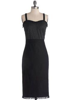 Wiggle Dresses, pencil dress, pinup dress  - Pom-Pom Beach Dress from ModCloth $68.99