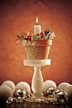 Christmas Candle Crafts For DIY Decor at Ideal Home Garden