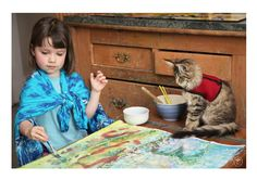 Autistic Girl With an Extraordinary Talent for Art Derives Love, Inspiration and Devotion From Her Incredible Cat