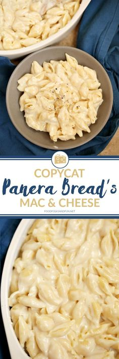 16 Copycat Panera Recipes You'll Want to Eat Every Day Alright folks, this is **THE** recipe for Panera's Mac & Cheese. I got it from their website a while back when they posted it for a short time! You MUST try this Panera's Mac & Cheese Recipe. Think Food, I Love Food, Good Food, Yummy Food, Yummy Treats, Pasta Dishes, Food Dishes, Dishes Recipes, Hallumi Recipes